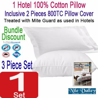 Harga Nile Valley's Hotel 100% Cotton Pillow 950g. Inclusive 2 Egyptian Pillow Covers