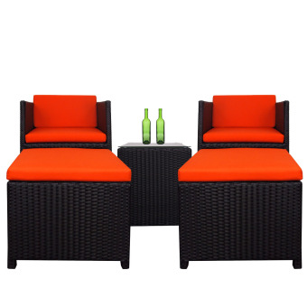 Harga Splendor Armchair Set, Orange Cushions