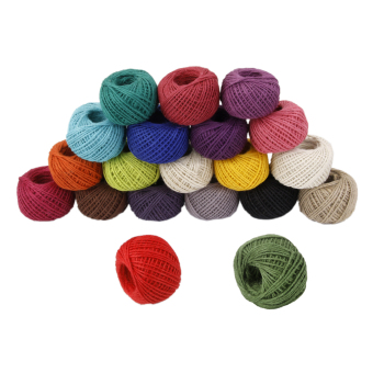Harga 50M Wrap Gift Hemp Rope Ribbon Twine Rope Cord String Ball Army Green