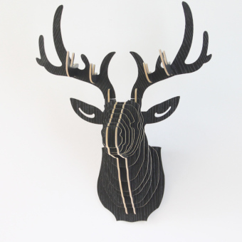 Harga Wooden deer animal head wall entrance wall hangings creative