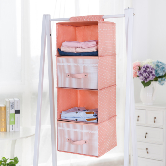 Wardrobe drawer-style bag clothes pouch hanging-dormitory wardrobe finishing storage bag