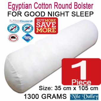 Harga Nile Valley's Egyptian Cotton Round Bolster 1300g. Threated with Mite Guard