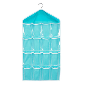 Harga PAlight Foldable Wardrobe Hanging Storage Bag (Blue)