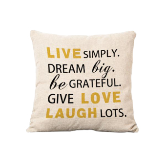 Harga BolehDeals Live Love Laugh Words Pillow Cover Linen Throw Sofa Cushion Case Bed Decor (Intl)