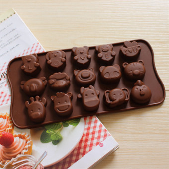 Harga promotion food grade silicone cake mold chocolate mold ice lattice mold 15 even love elephant diy mold