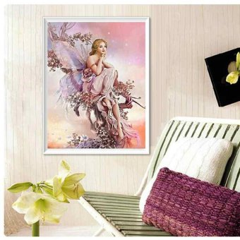 Harga Fashion angel girl DIY Diamond Painting Cross Stitch Diamond Paste Embroidery - intl