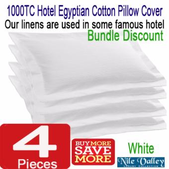 Harga Nile Valley's 5 Star Hotel 1000 Thread Count Egyptian Cotton Pillow Cover. Exclusive Quality