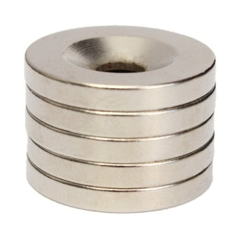 Harga N52 20mm x 3mm Ring Round Magnet Rare Earth Neodymium With 5mm Hole 5Pcs(Export)(Intl)