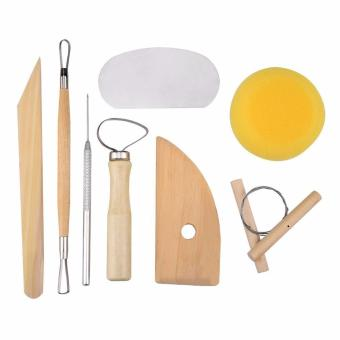 Harga Kuelox 8 PCS SET Clay Wax Pottery Tool Kit Ceramics Wax Carving Sculpting Molding