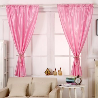 Harga Blackout Thermal Solid Window Curtain Pink