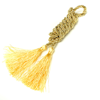 Harga Cotton Rope Tassel Window Curtain Fringe Tiebacks Tie Backs Room Decor Yellow (EXPORT)