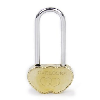 Harga Love Lock Padlock Gold