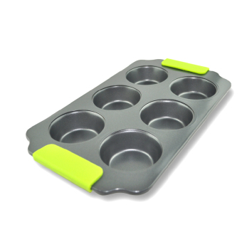 Harga 6 inch with round tart pan pizza pan 6 cup nonstick muffin pan round cake baking mold special clear