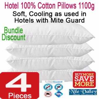 Harga Nile Valley's Hotel100% Cotton Pillows with Mite Guard. 1100 grams