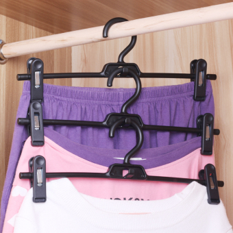 Harga Japan lec upscale SEAMLESS hanger multifunctional clothes rack wardrobe hangers clothes hanger with clip son