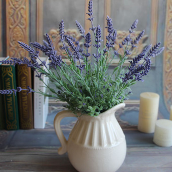 Harga Green Plants Artificial Flower Lavender Leaves Grass Home Flowers Arrangement
