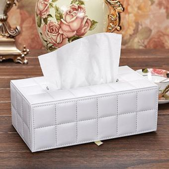 Harga High Grade Leather Tissue Box - intl