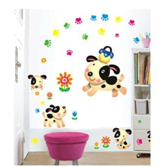 Harga Removable Wall Sticker - Dogs (AY7036)