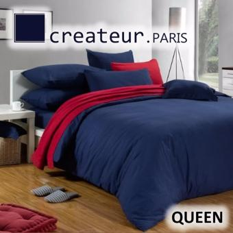Harga Createur Paris Silkfeel Queen Bedsheet Set (CR515 Paris Night)