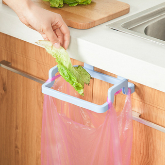 Harga Kitchen multifunctional household cupboard door back rack garbage bags storage rack garbage bags door after rack