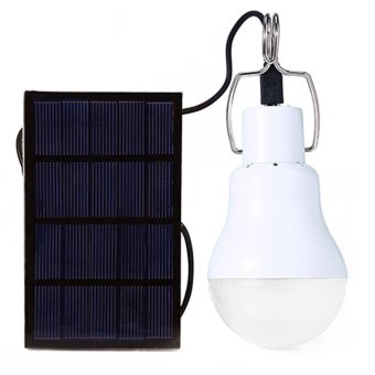 Harga 1.2W Portable LED Outdoor Solar Energy Powered Bulb Camping Light Lamp with Switch and Solar Panel