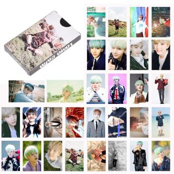 Harga 1 Box Kpop Star BTS SUGA Personal Paper Cards Photo Picture Poster Fans Gift - intl