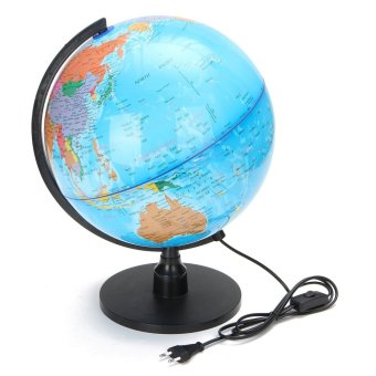 Harga LED WORLD GLOBE Rotating Swivel Map of Earth Atlas Geography - intl
