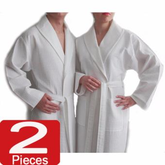 Harga NILE VALLEY HOTEL EGYPTIAN COTTON BATHROBE WAFFLE WHITE