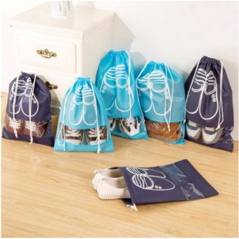 Pack of 5.Dust-proof Shoe Organizer Bags for Boots, High Heel, Drawstring, Transparent Window, Space Saving Storage Bags - intl