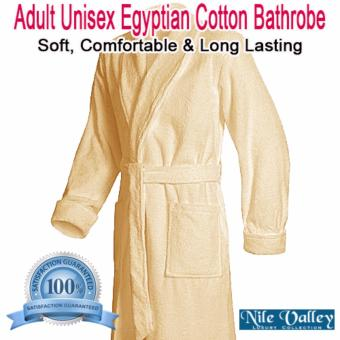 Harga Nile Valley's Hotel Unisex Egyptian Cotton Bathrobe for Adult(Single)