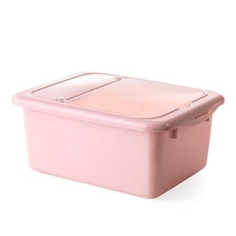 Harga Plastic meter box rice storage kitchen storage box 10KG installed meters migang stockholders box to put the moisture of rice flour barrels