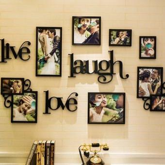 Harga Live Laugh Love Decorative Wall Photo Frames