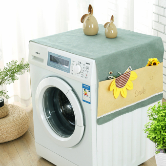 Harga Drum washing machine cover towel single-cylinder on the door washing machine cover cloth single door double-door refrigerator cover towel Dust Cover
