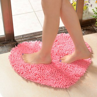 Harga Heart chenille mats bathroom doormat absorbent bath mat door mat floor mats door mat bathroom mat