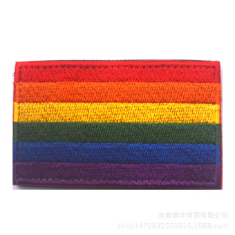 Harga Flag Sheng fine embroidery rainbow flag magic stickers chapter peace Comrade flag rainbow flag emblem Zhang Caizhang