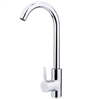 Harga Copper Chrome Rotatable One Hole Single Handle Kitchen Faucet Cold Hot Water Mixer Tap