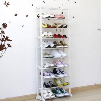 Harga 10-story vertical combination shoe rack ten layers shoe rack