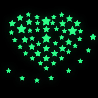 Glow In The Dark Stars Wall Stickers Set of 100
