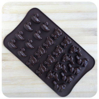 Harga Duck silicone cake mold 24 even geometry rose chocolate silicone mold a factory direct wholesale