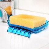 Kitchen Sink Sponge Drainage Soap Dish Waterfall Soap Saver with Suction Cup Drain Soap Dish Sponge Holder for Bathroom Accessories - 3