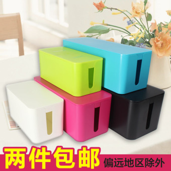 Large No. Wire storage box IKEA Power Cable plug strip line board storage box finishing set line box management line is
