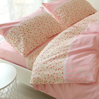 Cotton one-piece single person bed bedsheet linen