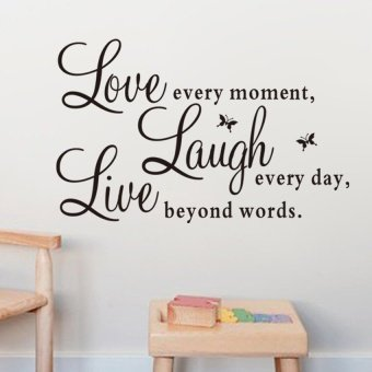 Live Laugh Love Quote Removable Vinyl Decal Wall Sticker Home DecorArt Hot - intl