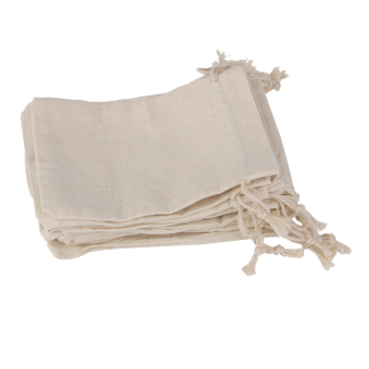 Harga Lot of 10 Linen Jute Sack Jewelry Pouch Drawstring Gift BagsWedding Favour