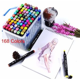 Marker 168 Colors Water Color Pen Painting Pencils Pen Brush Markers - intl