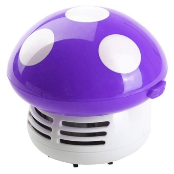 Moonar Cute Hand Held Keyboard Sweeper Mini Mushroom Corner Desk Table Dust Vacuum Cleaner Sweeper - intl