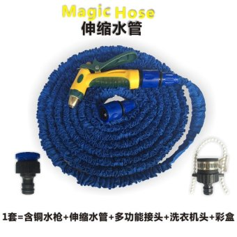 New 30M 100FT Flexible Expandable Hose Garden Water Pipe with Spray Metal Nozzle - intl