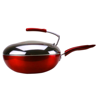 Non stick pot flat home cooker gas stove wok smokeless womencooking universal applicable pot