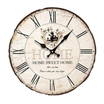 Harga OEM Vintage Woody Creative Wall Clocks