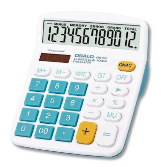 OH OSALO 837VC 12 Digit Electronic Calculator Large Display Calculate Tool Blue - intl